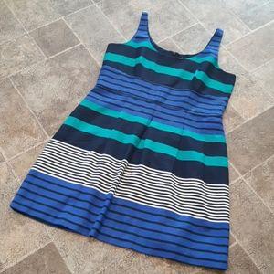 Loft women's size 14 sleeveless pleated dress